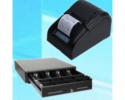 pack impresora de tickets y cajón portamonedas