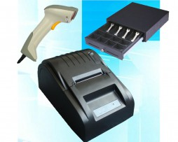 pack impresora tickets lector codigo barras cajon portamonedas